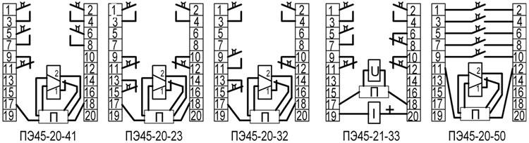 ПЭ45 - схемы подключения