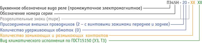 ПЭ45Н - типоисполнения