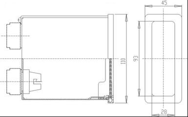 Габаритные размеры светового табло ТСБ
