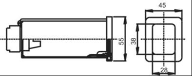 Габаритные размеры светового табло ТСМ
