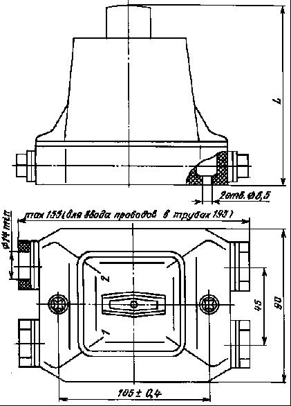 Габаритные, установочные размеры и масса переключателей типа ПКУ3 58электротехническая компания Электросервис