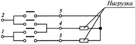 Схема подключения - Переключатель для электроплит ППКП-25 (ТПКП-25): описание, характеристики, габариты, конструкцию, порядок подключения, купить в Киеве, доставка по Украине, цена - электротехническая компания Электросервис